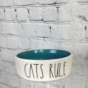 BRAND NEW Rae Dunn CATS RULE small cat dish bowl
